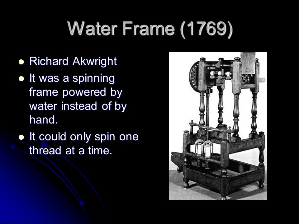 Water Frame Spinning Machine - Page 5 - Frame Design & Reviews ✓