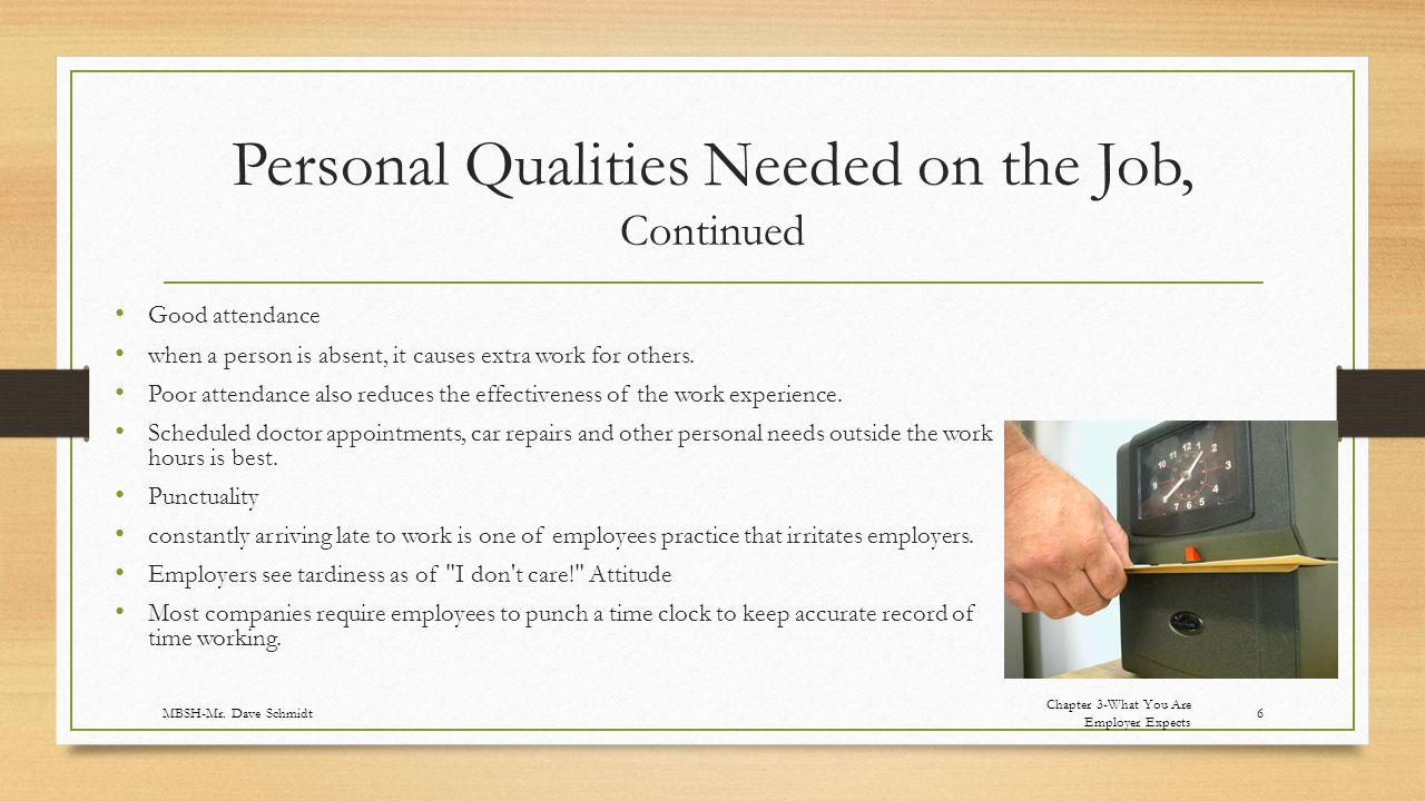 personal skills and qualities High performing employees possess practical job skills along with intangible  personal attributes that ensure their success in working with.