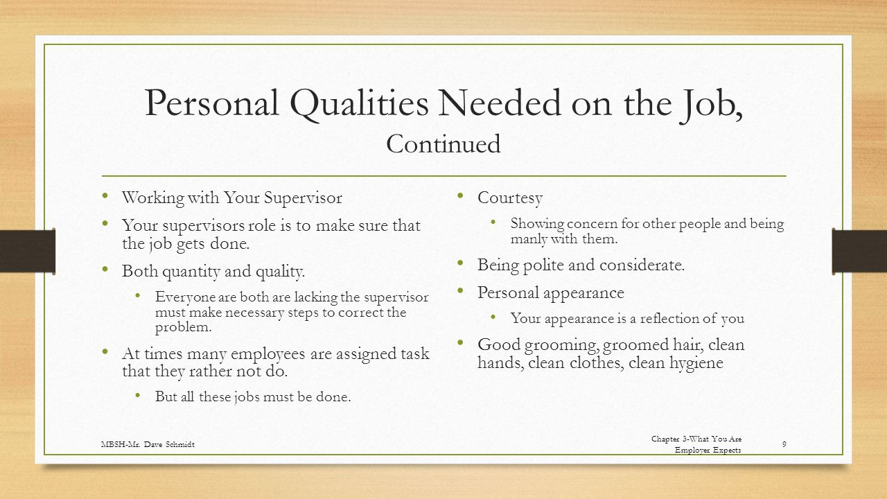 qualities of a good supervisor ppt