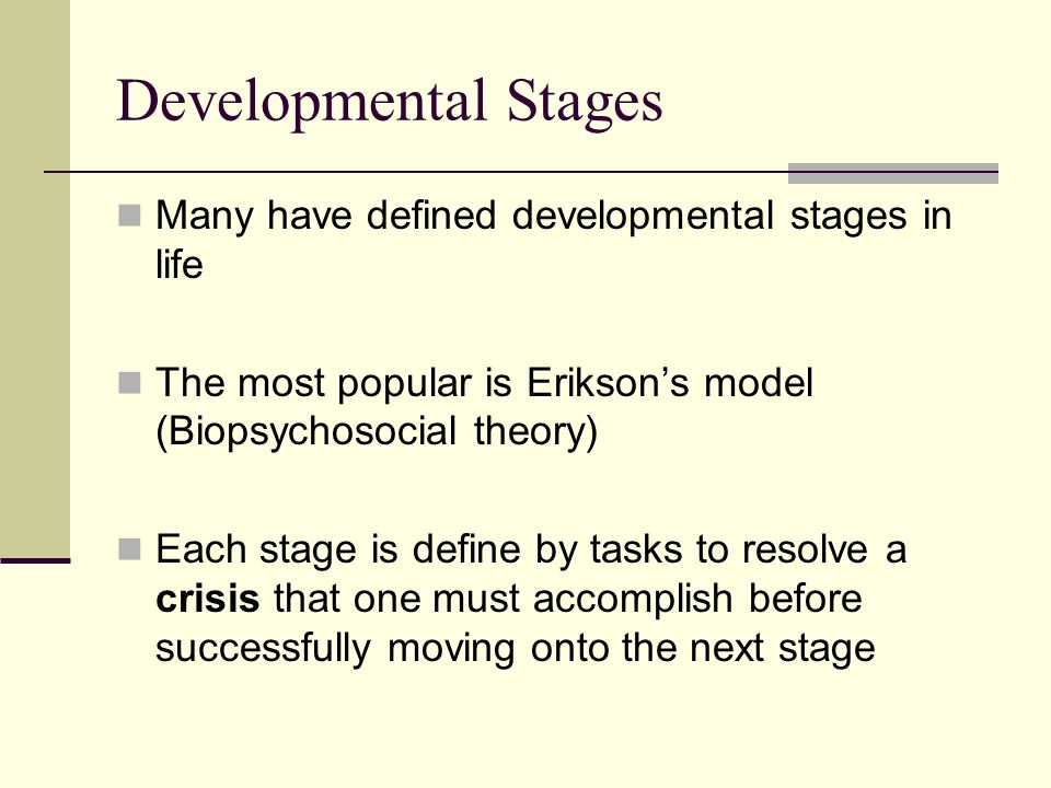 developmental stages and transitions essay The growing child: school-age (6 to 12 years) what can my child do at this age as your child continues to grow, you will notice new and.