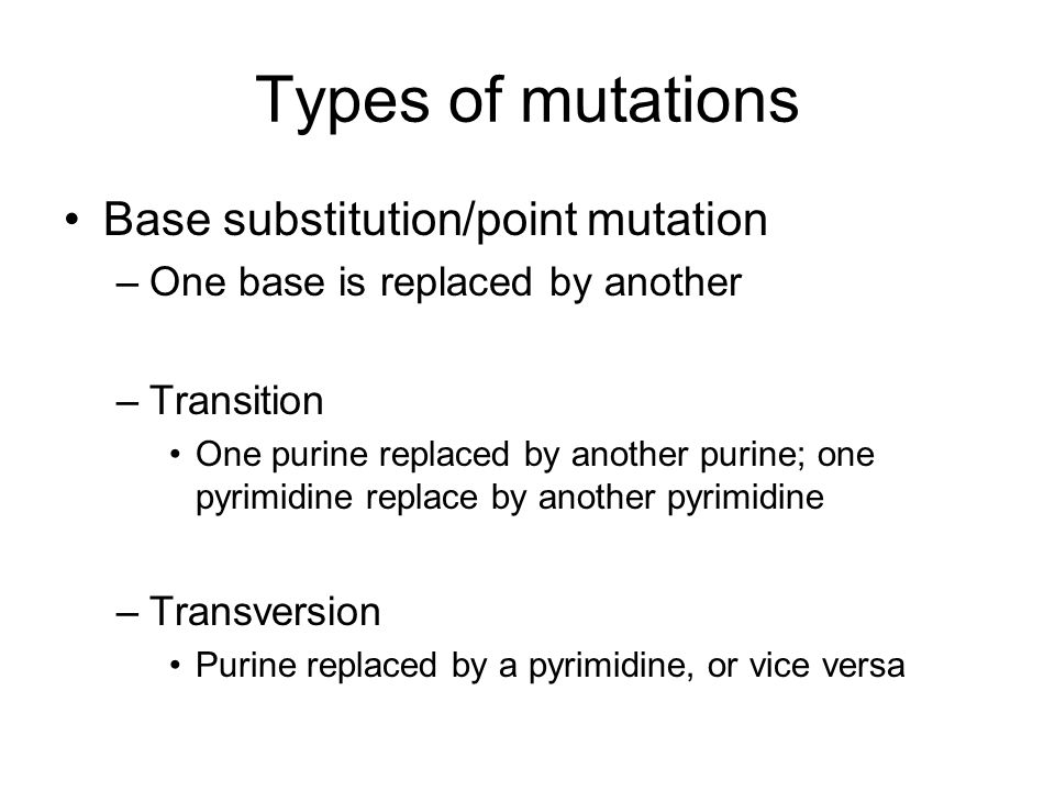 Chapter 18 Gene Mutations and DNA Repair ppt video online download – Types of Mutations Worksheet