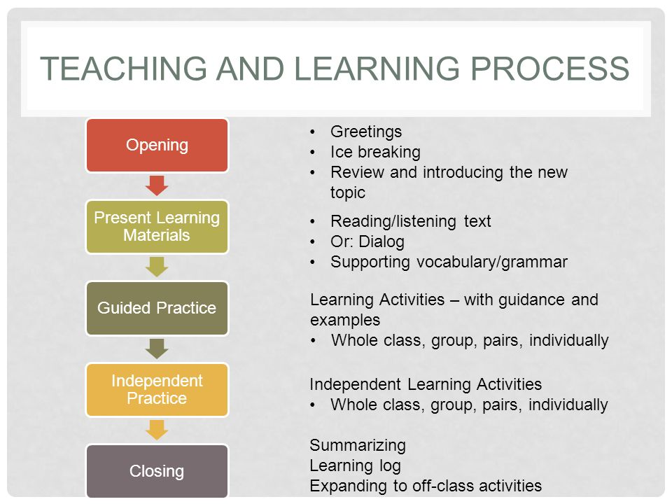 Definition of 'learning process'