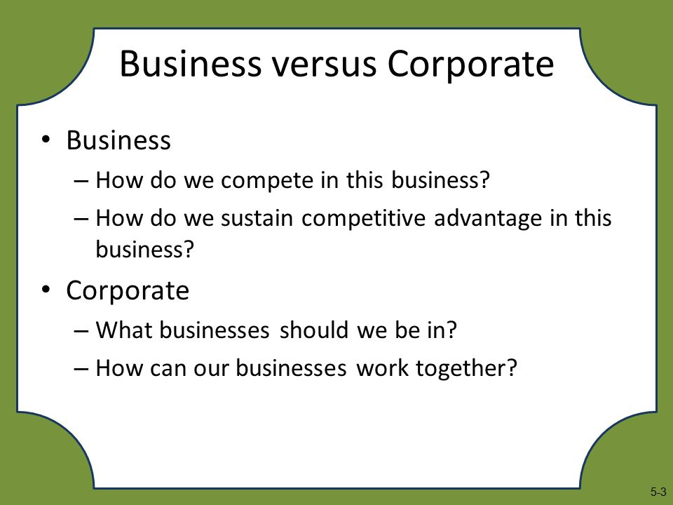 business strategy chapter 5