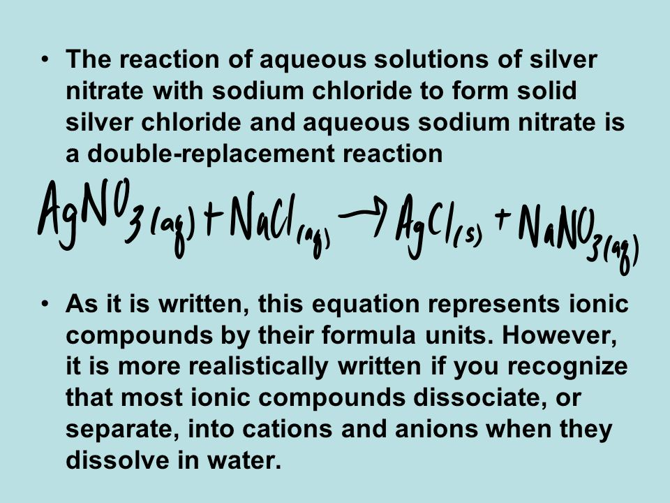 Reactions in Aqueous Solution - ppt video online download