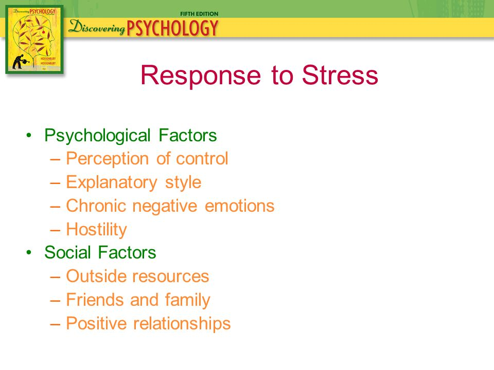 perceived stress factors Perceived stress  an examination of these factors may facilitate increased attention to the assessment and.