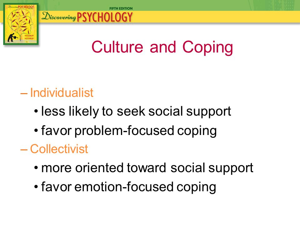 a comparison of the emotion focused and We examine the extent to which coping options endorsed by older adults help alleviate loneliness, and experiences with loneliness influence the coping options two ways of coping are distinguished: problem-focused, ie, improving one's relationships, and emotion-focused, ie, lowering one's .
