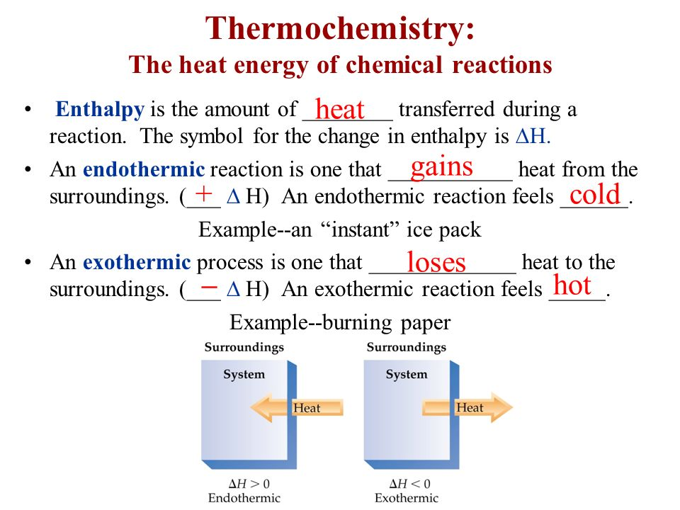 Thermochemistry The Heat Energy Of Chemical Reactions Ppt Video