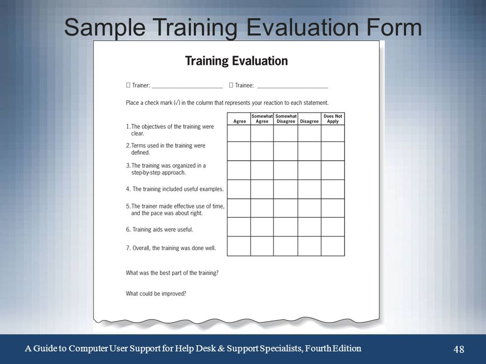 Computer Training Feedback Form Doc  GetpaidtotakesurveyonlineInfo