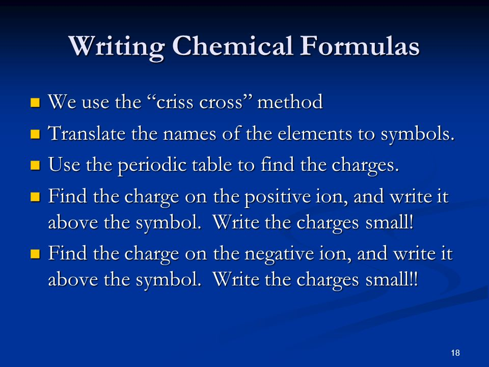 Chemistry writing formulas ppt video online download writing chemical formulas urtaz Choice Image