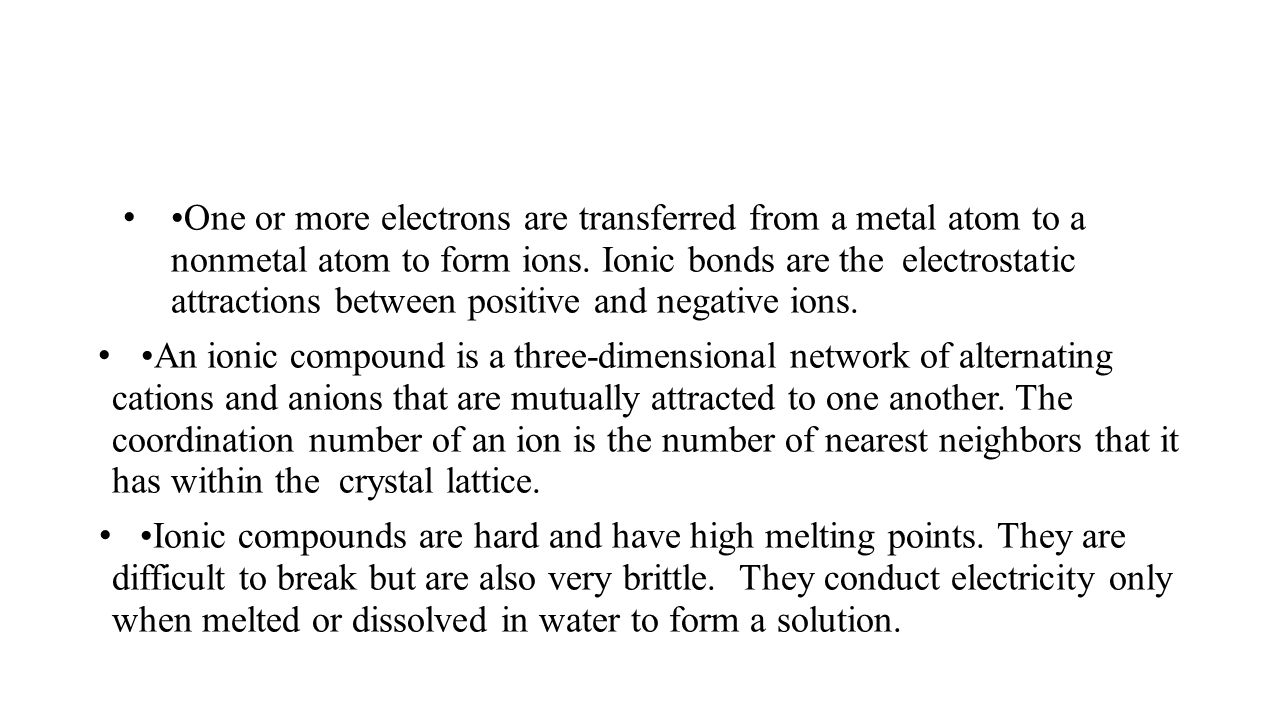 Ionic Bonds and Ionic Compounds - ppt video online download