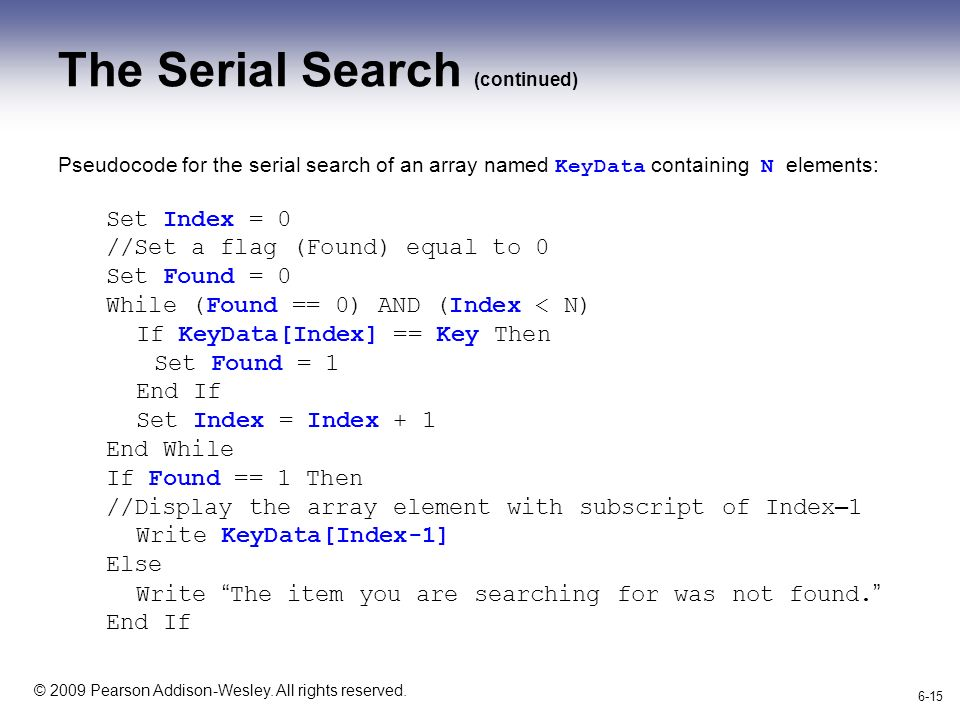 how to search for an item in an array