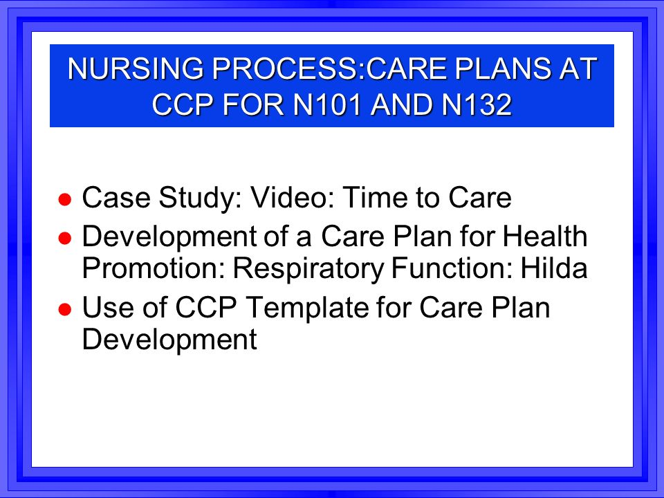 care plan essay Care plan: turb and kyphoplasty recovery situation and background ep is an 88-year-old mock care plan assignment instructions each student selects a different case study and notifies the.