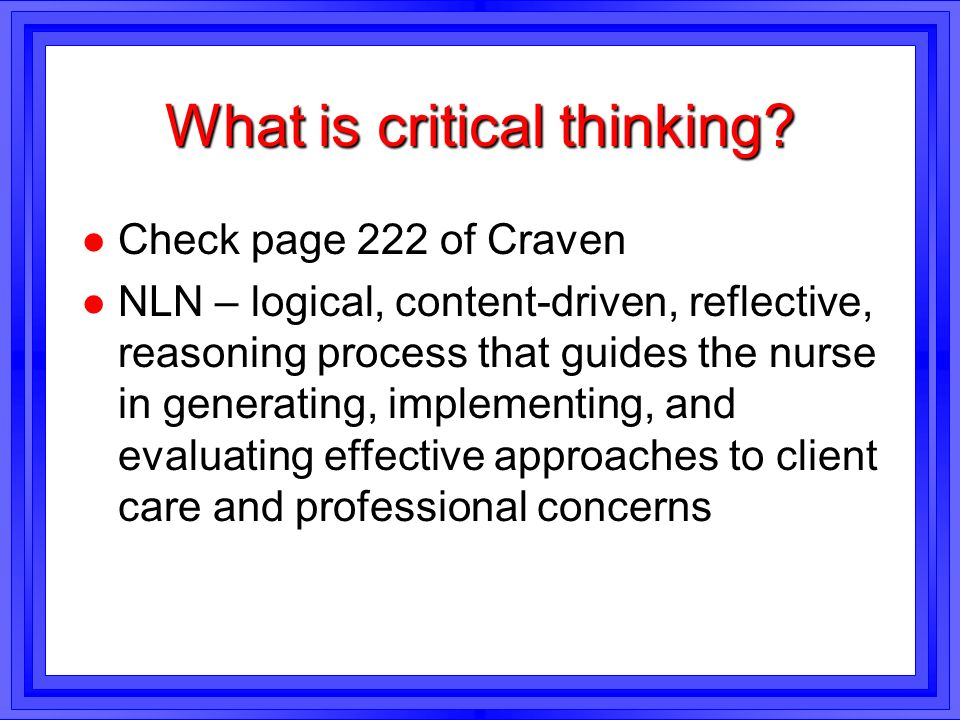 critical thinking 7 step problem