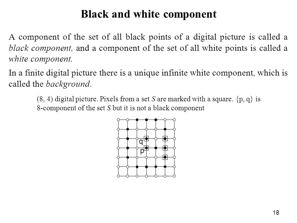 Black and white component