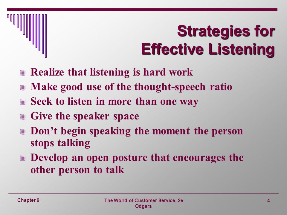 Bobbin can Effective Listening For The Are Strategies What use