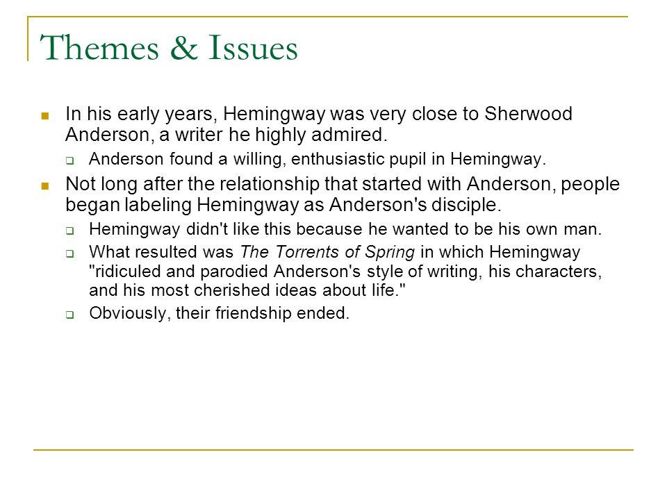 The stylistic analysis of sherwood andersons