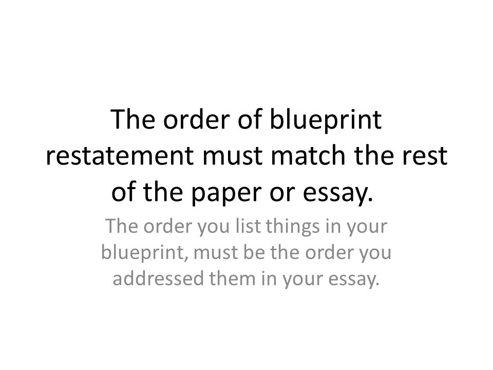 tips for writing conclusions ppt video online  the order of blueprint restatement must match the rest of the paper or essay