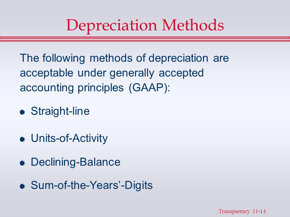 generally accepted accounting principles and depreciation It is definitely against generally accepted accounting principles (gaap) to charge  the entire cost of a fixed asset to expense in the year of its.