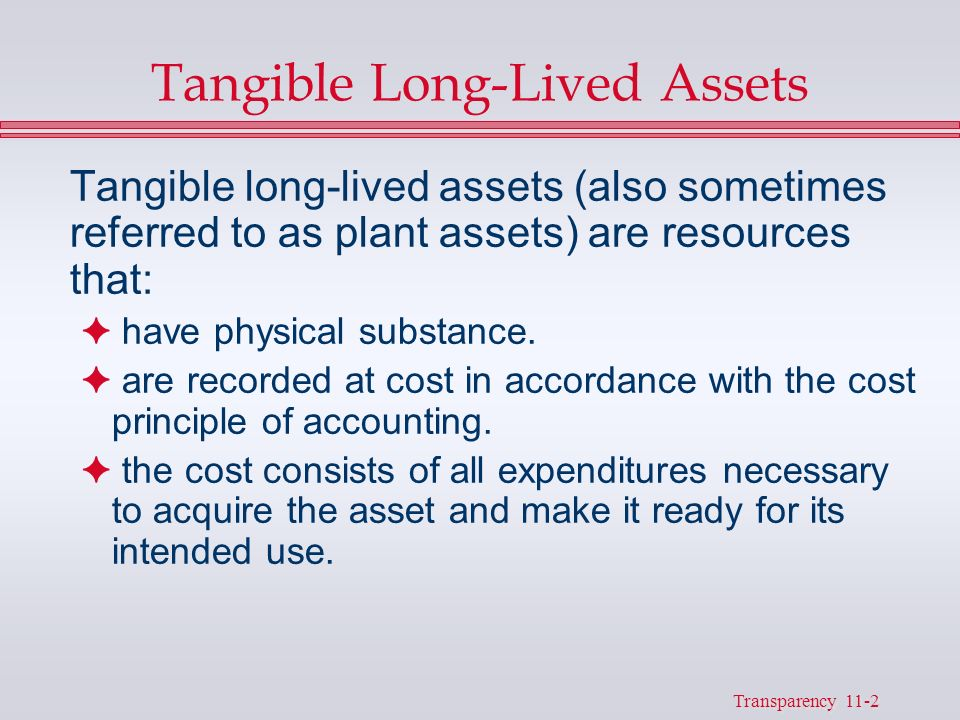 """long lived assets Introduction issued in august 2001, financial accounting standards board (""""fasb"""") accounting standards codification (""""asc"""") topic 360, property, plant, and equipment (""""asc 360"""") addresses."""