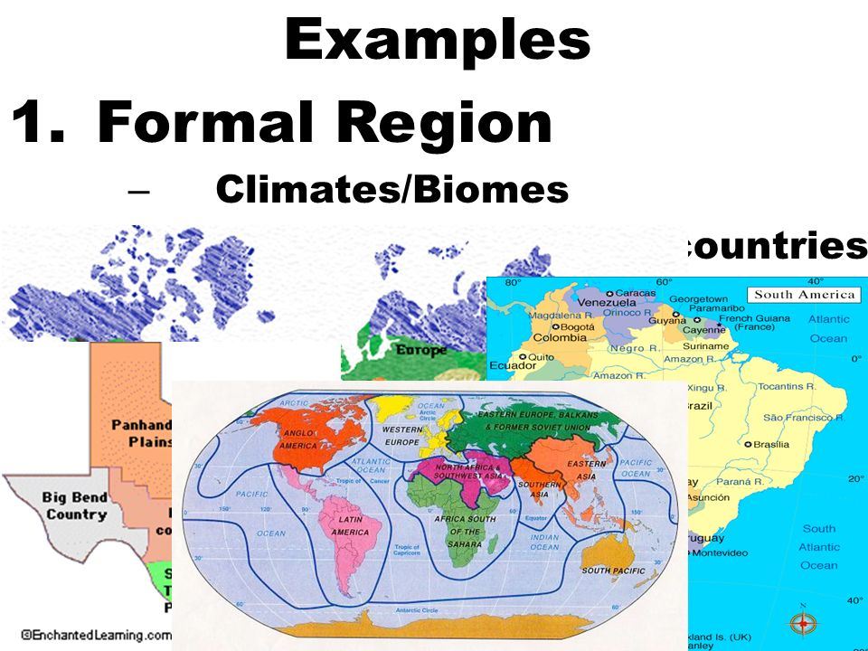 exle of formal region types of regions 10 4 what is a region what makes a