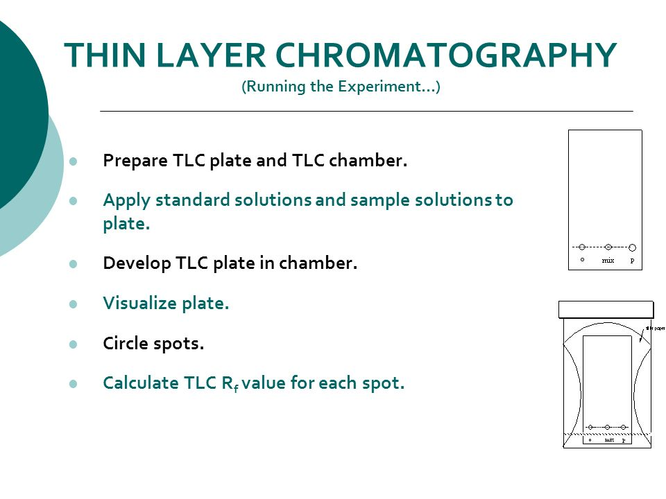 column and thin layer chromatography The authors have been using the product mixture obtained from the nitration of phenol to demonstrate the techniques of column and thin-layer chromatography with excellent results.