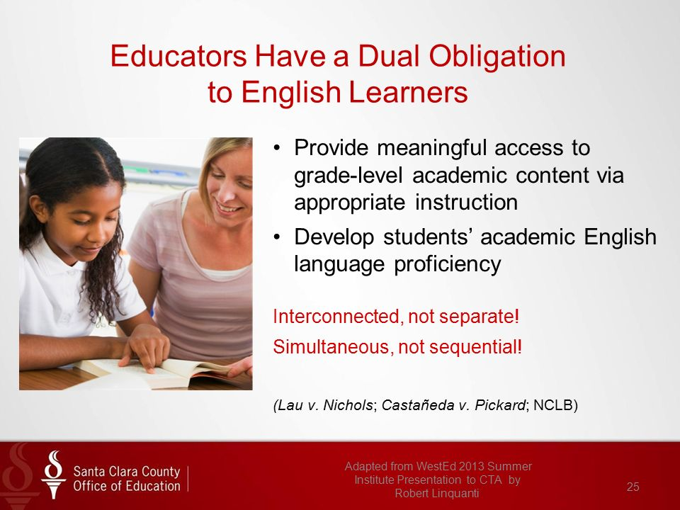 lau vs nichols english language learners Lau vs nichols ells and us schools english language learners may  enter the us school system with previous educational experience and literacy.