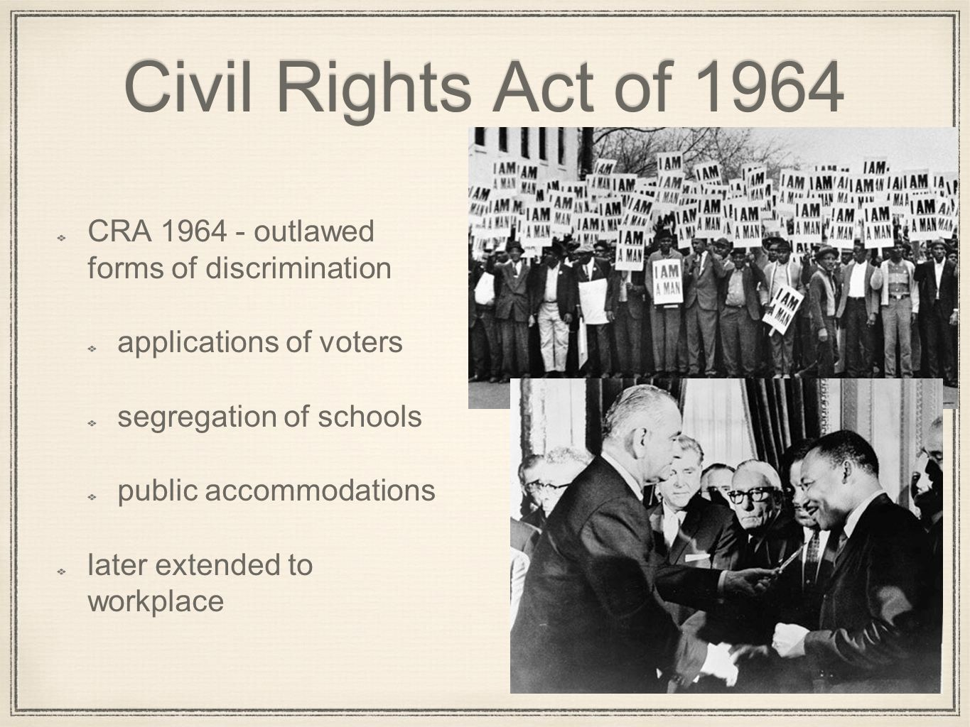 The civil rights act of 1964 essay