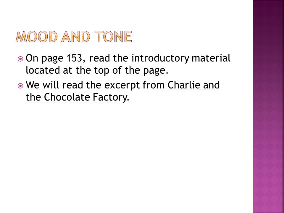 Charlie And The Chocolate Factory Book Excerpt