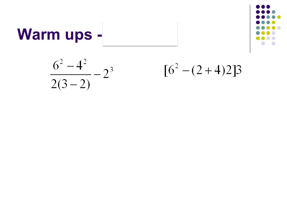 Warm ups PEMDAS ppt download – Pemdas Math Worksheets