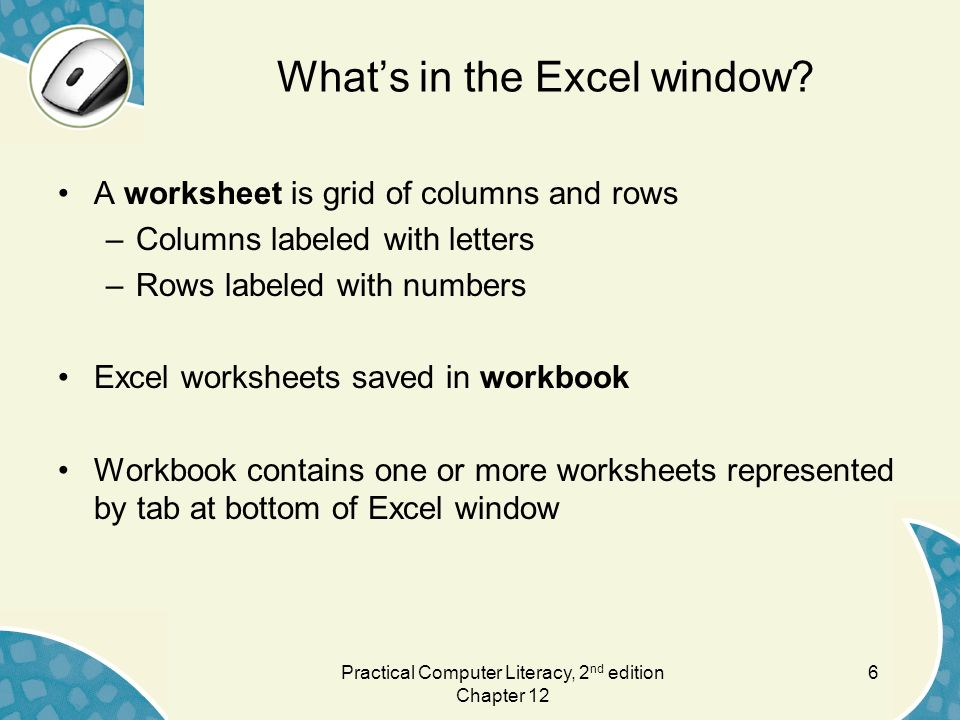 Chapter 12 Creating a Worksheet. - ppt download
