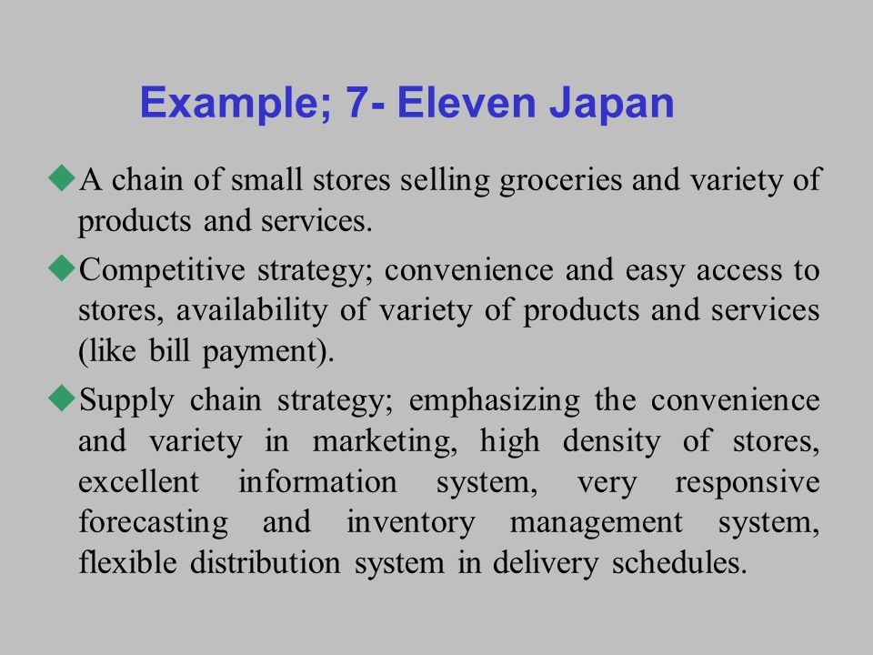 marketing strategy of 7 eleven 7-eleven convenience store network marketing strategic analysis posted:2003-4-30 in today's world economy is unstoppable trend toward the integration of global markets, business competition, the direction of international development, to the internet, knowledge economy, high-tech as the representative to meet consumer demand for the core of the.