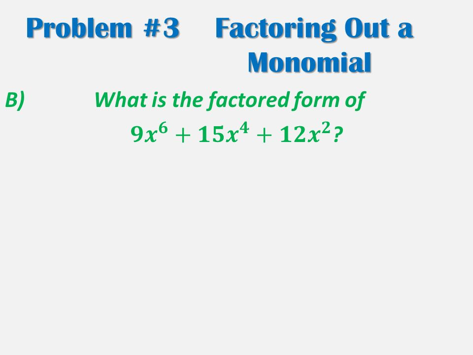 Section 8 2 Multiplying Factoring ppt download – Factoring Monomials Worksheet