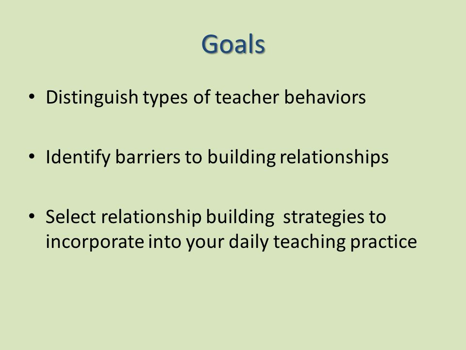 relationship building strategies for teachers