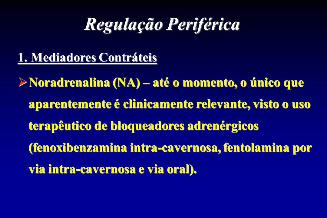 Regulação Periférica 1. Mediadores Contráteis