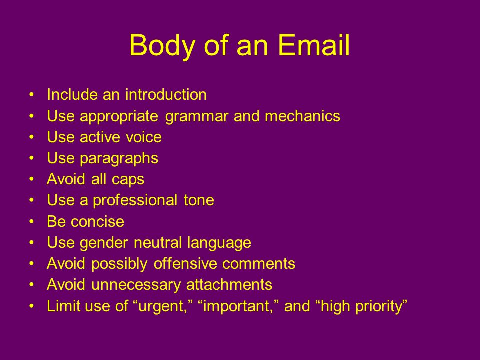professional email introduction