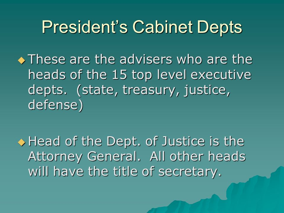 Ch. 7 The Executive Branch. - ppt download