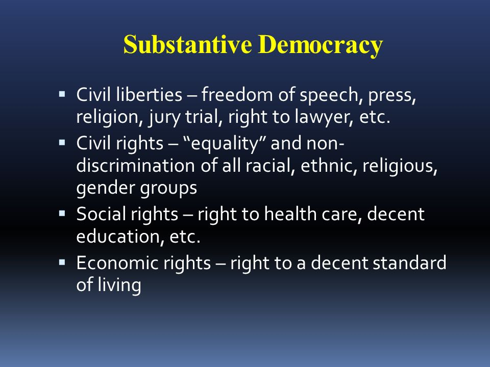 democracy and civil rights
