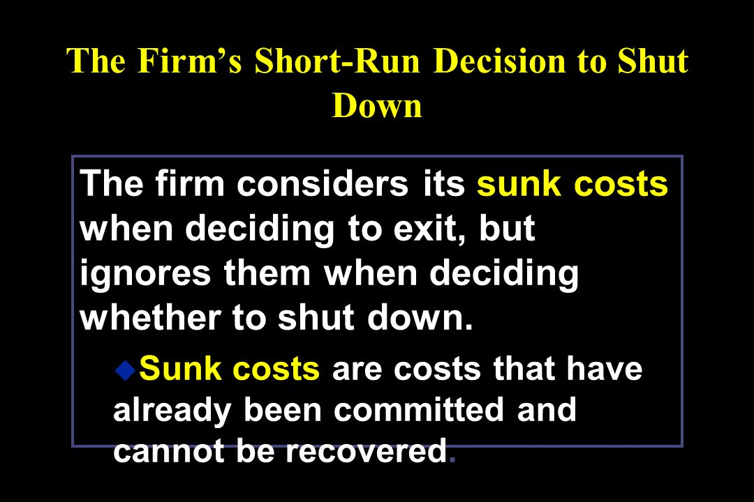 short run decision making In the short run under perfect competition,  numerous experiments have demonstrated that decision making often falls well short.