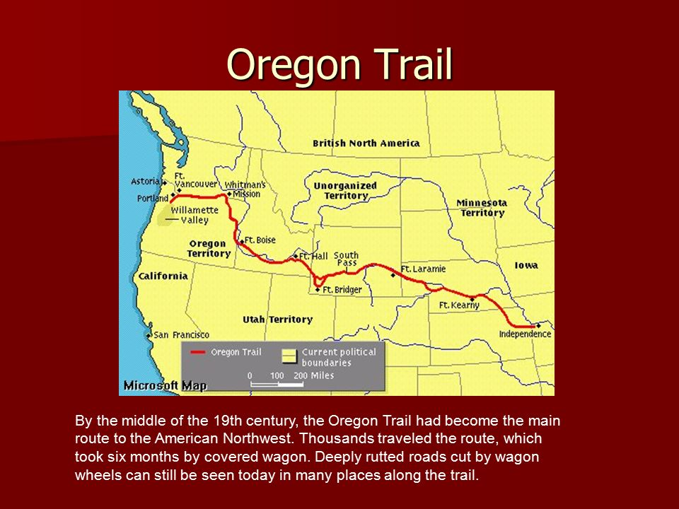 an overview of the oregon trail First examine the routes for the oregon trail at historic sites on the trail, oregon trail map or the more detailed maps at trail overview map.
