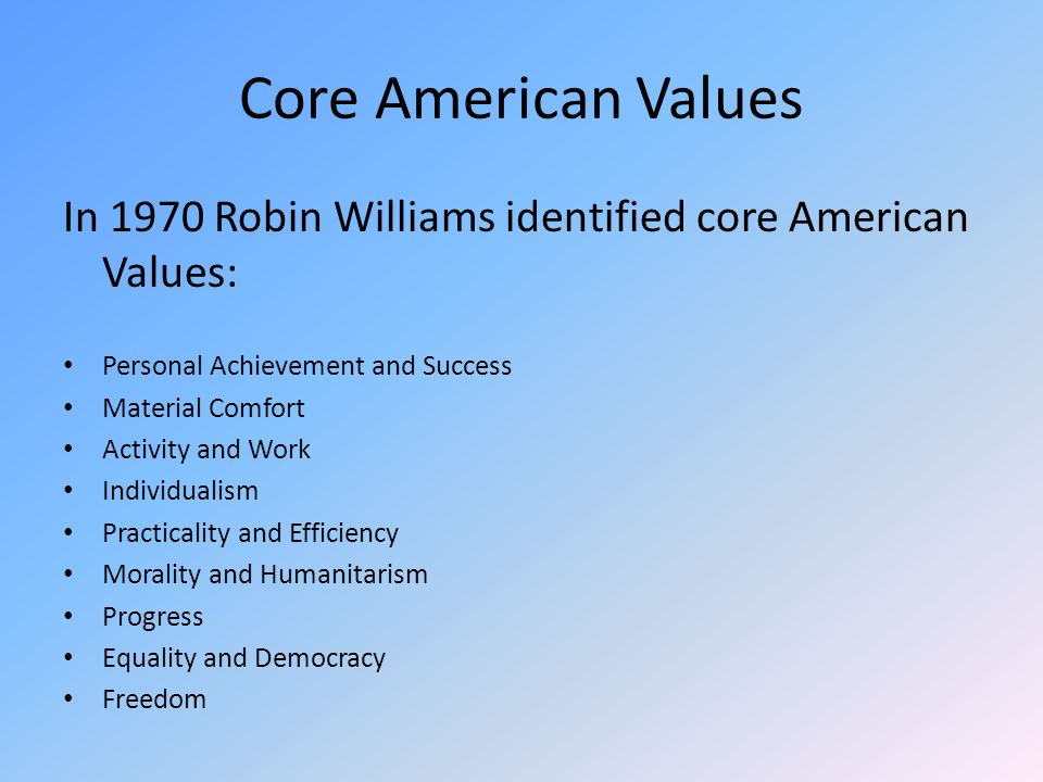 america s core values liberty equality and Liberty & equality two central values in american political life are liberty and equality, and the question is, how do those things go together.