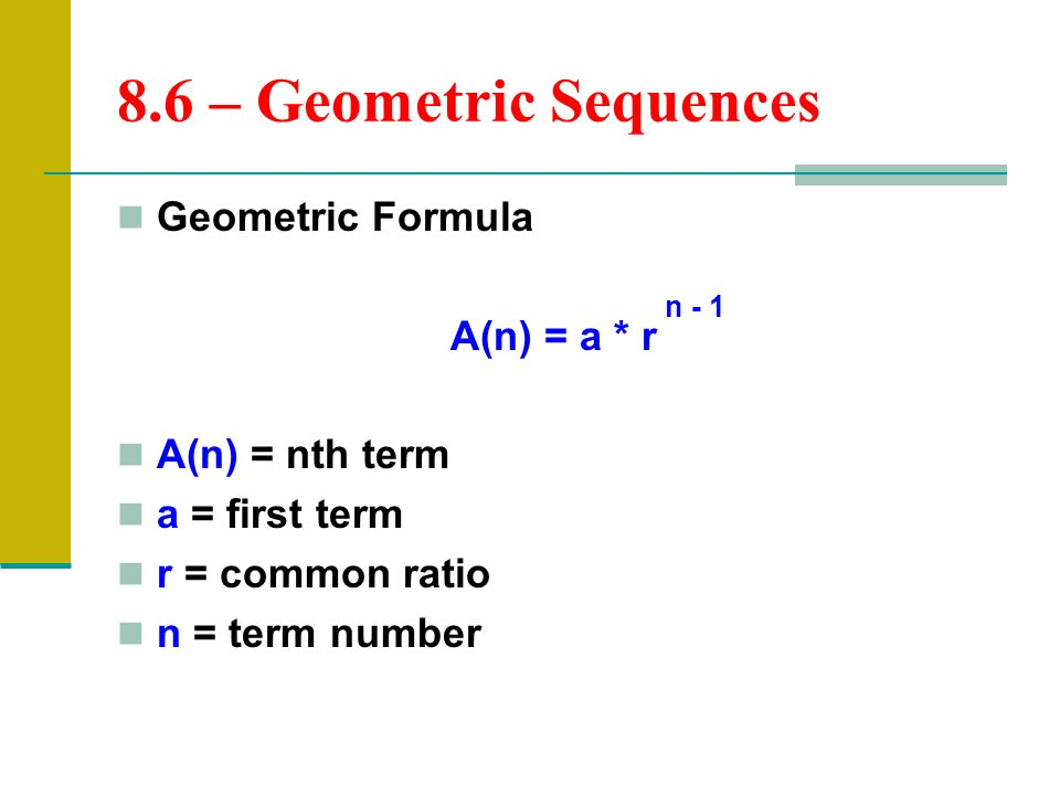 86 geometric sequences ppt download