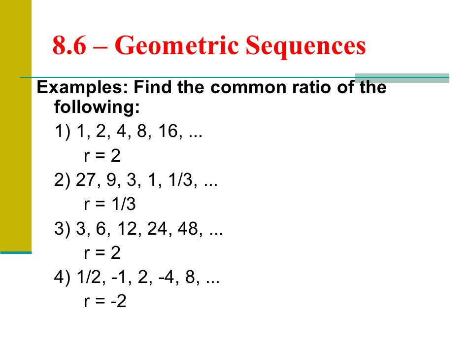 Geometric Sequences  Ppt Download
