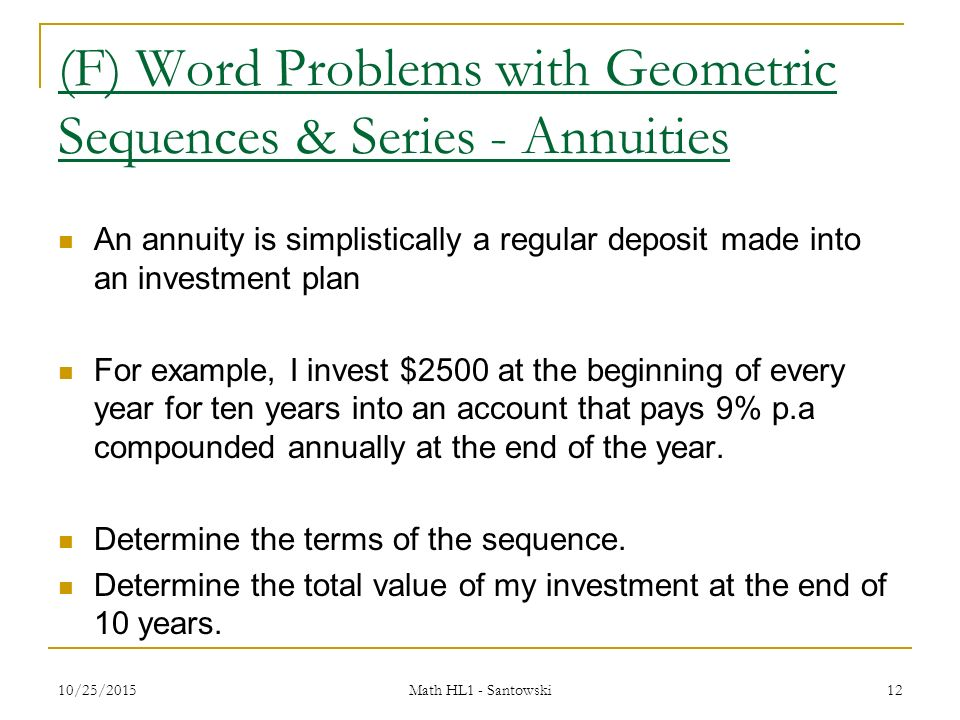 Geometric Sequence Example Problems Image Gallery - Hcpr