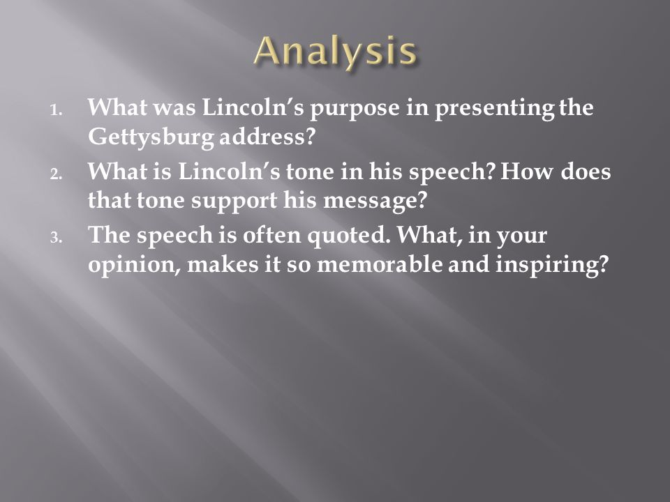Speech Analysis: Gettysburg Address – Abraham Lincoln