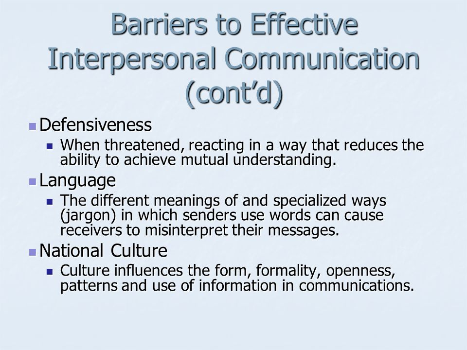 interpersonal communication barriers essay