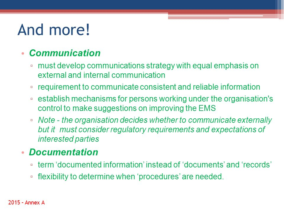 And more! Communication Documentation