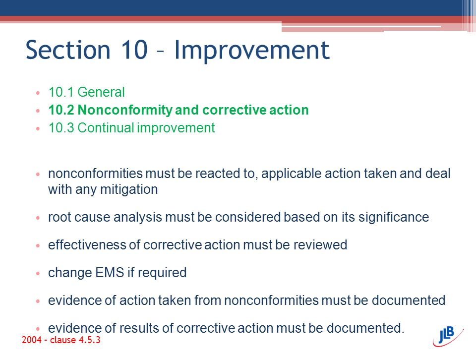 Section 10 – Improvement 10.1 General