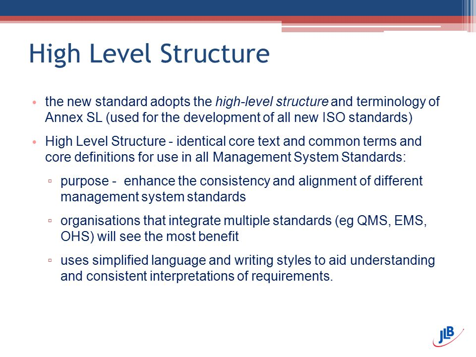 High Level Structure