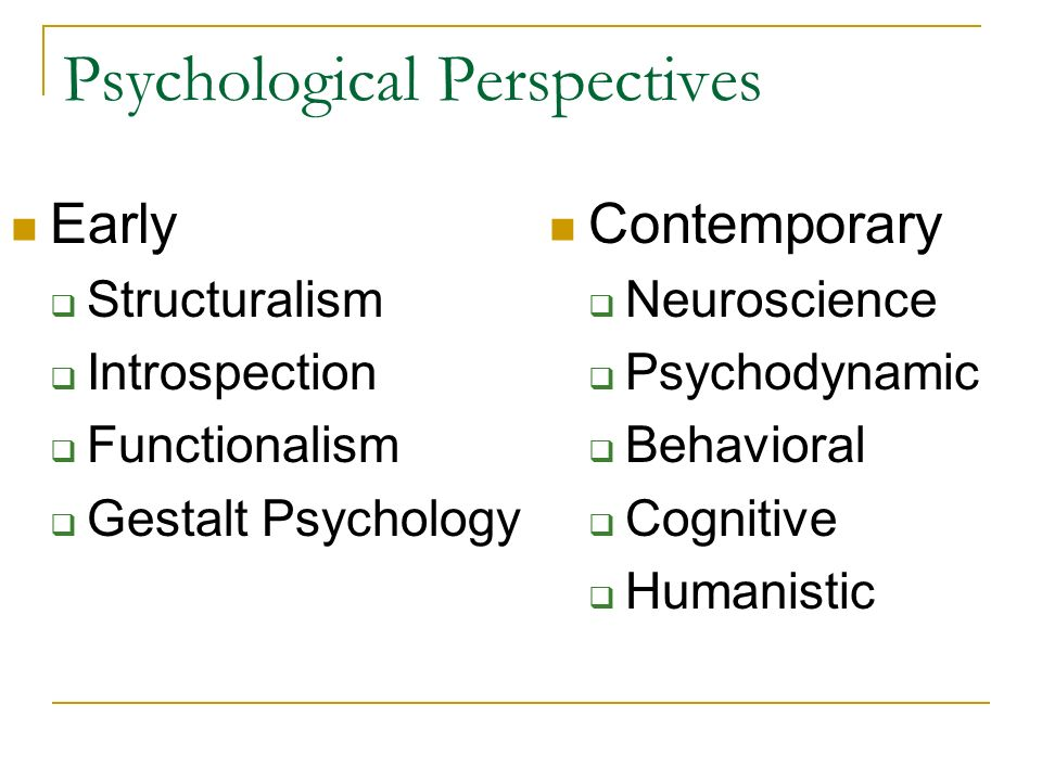 psychodynamic behavioral and cognitive perspectives The psychodynamic approach to personality involves the the psychodynamic theories of personality are mainly composed of 8 social cognitive theories 9.