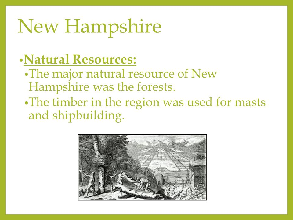 Natural Resources Found In New England